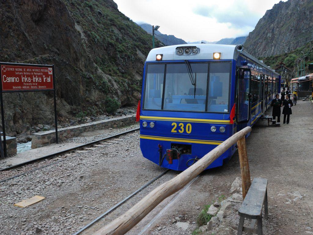 Estación Aguas Calientes Tren Camino Inca